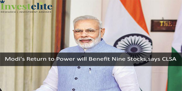 Modi's Return to Power will Benefit Nine Stocks,says CLSA