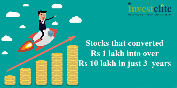 Stocks that converted Rs 1 lakh into over Rs 10 lakh in just 3 years