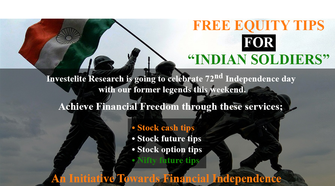 FREE EQUITY TIPS FOR INDIAN SOLDIERS - An Initiative Towards Financial Independence