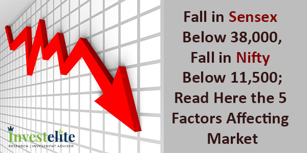 Fall in Sensex below 38,000, Fall in Nifty below 11,500; Read Here the 5 factors affecting  market