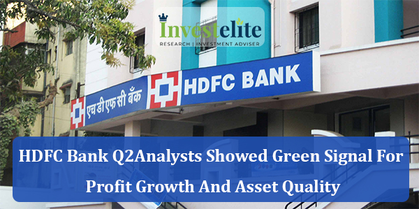 HDFC Bank Q2 :Analysts showed green signal for profit growth and asset Quality