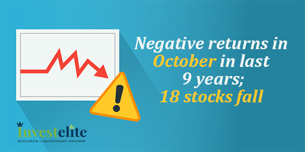 Negative returns in October in last 9 years;18 stocks fall