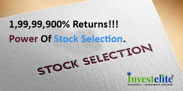 1,99,99,900% RETURNS!!!! Power Of Stock Selection.