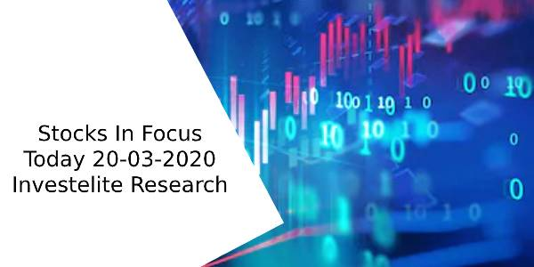 Stocks In Focus Today 20-03-2020 – Investelite Research