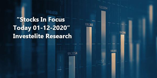 """Stocks In Focus Today 01-12-2020"" – Investelite Research"