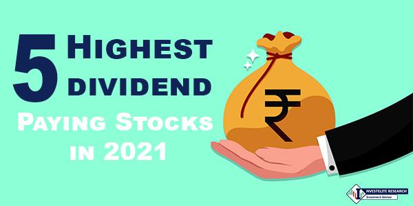 Top 5 Highest dividend